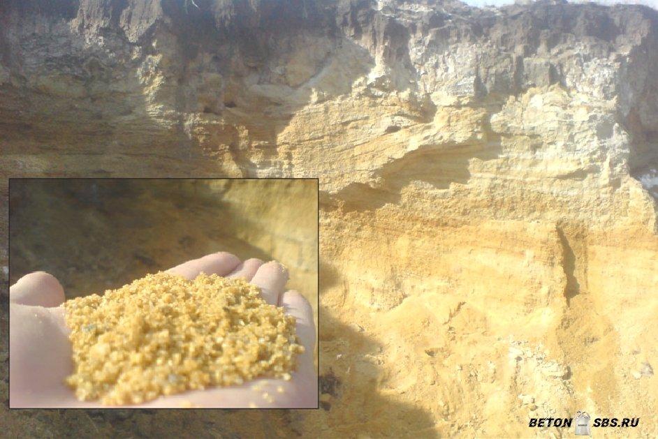 Песок как компонент бетона