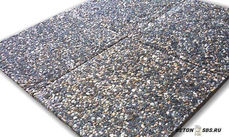 Изготовка мытого бетона