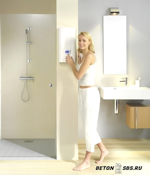 Газовая колонка в ванной комнате в фото