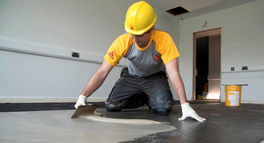 Ремонт бетонного пола: индивидуальности процесса реставрации и полной подмены стяжки
