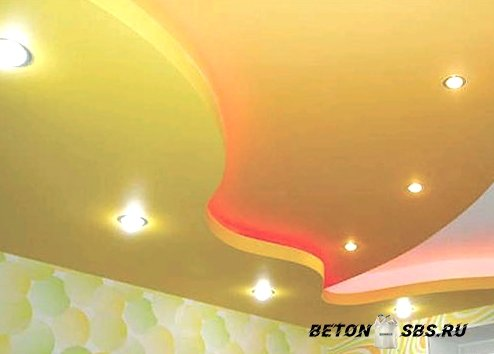 Избираем осветительные приборы для натяжного потолка в фото